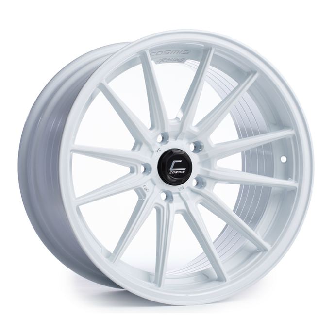 Cosmis Racing Wheels R1 18x9.5 +35 5x100 White Wheel