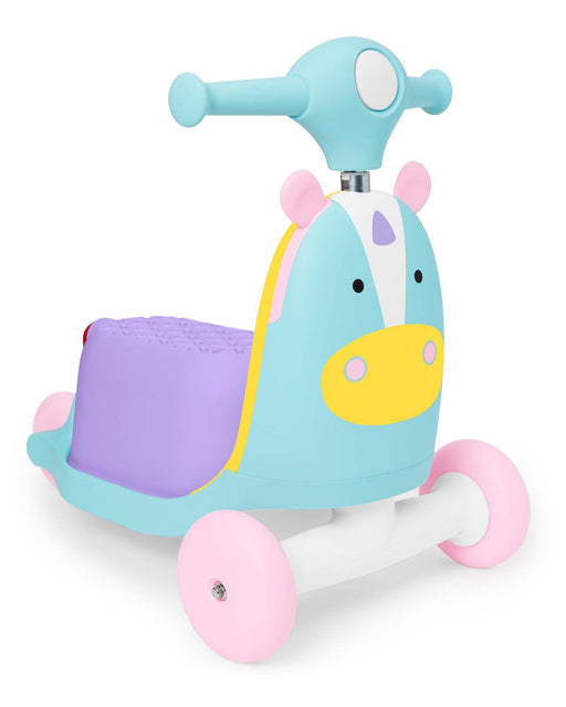 Zoo 3-In-1 Wagon/Ride On/Scooter Toy, Unicorn - Preggy Plus