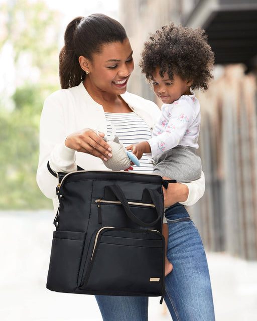 Skip Hop Mainframe Wide Open Diaper Backpack/Satchel, Black - Preggy Plus