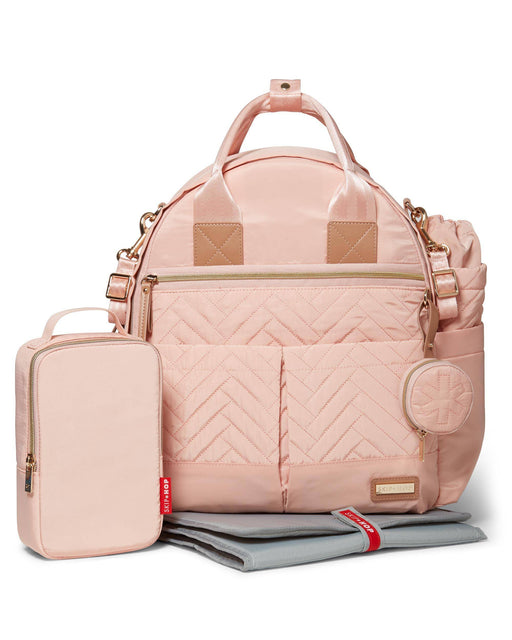 Suite 6-In-1 Diaper Backpack Set, Blush - Preggy Plus