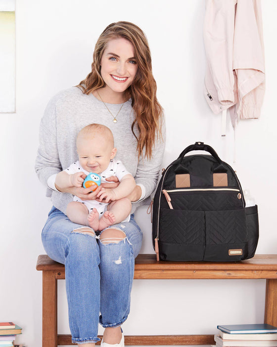 Suite 6-In-1 Diaper Backpack Set, Black - Preggy Plus