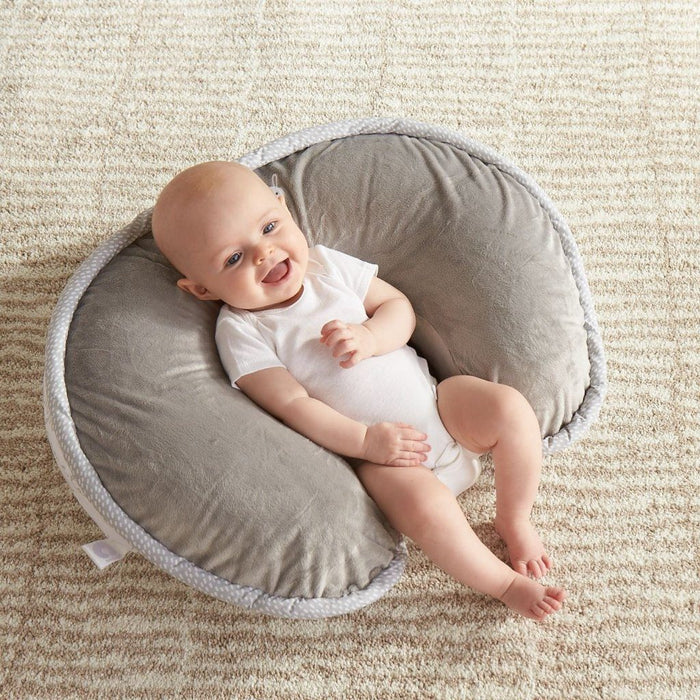 Boppy Luxe Nursing Pillow and Positioner, Hello World - Gray - Preggy Plus