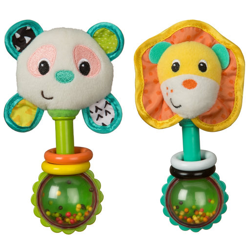 Infantino Shake & Smile Rattle Pal - Lion or Panda - Preggy Plus