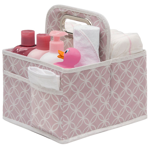 Delta Water-Resistant Portable Nursery Caddy, Polka Dot Pink - Preggy Plus