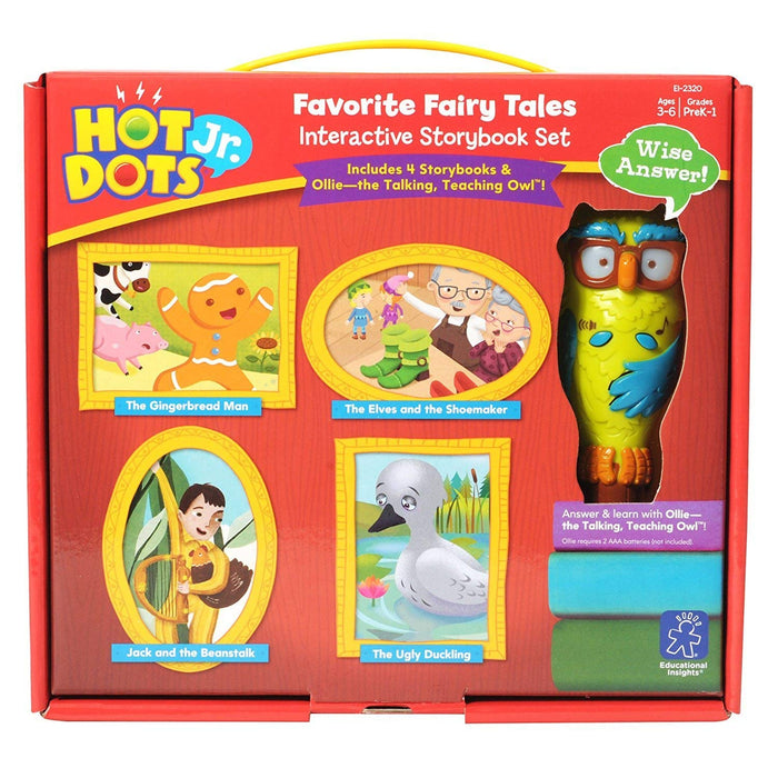 Hot Dots® Jr. Favorite Fairy Tales Interactive Storybook Set with Ollie—The Talking, Teaching Owl™ Pen - Preggy Plus