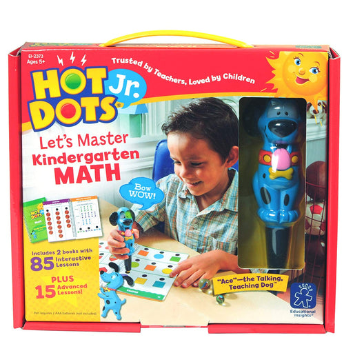 Hot Dots® Jr. Let's Master Kindergarten Math Set with Ace Pen - Preggy Plus