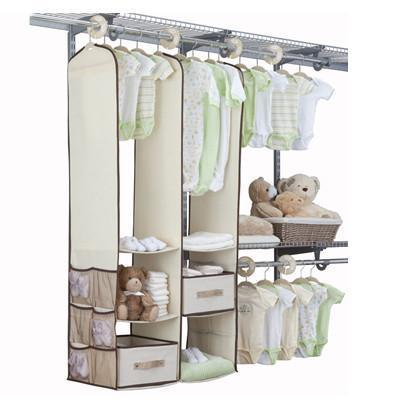 24 Piece Nursery Closet Set , Beige - Preggy Plus