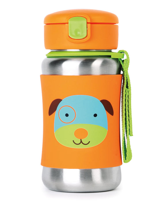 Skip Hop Stainless Steel Little Kid Straw Bottle, Dog - Preggy Plus