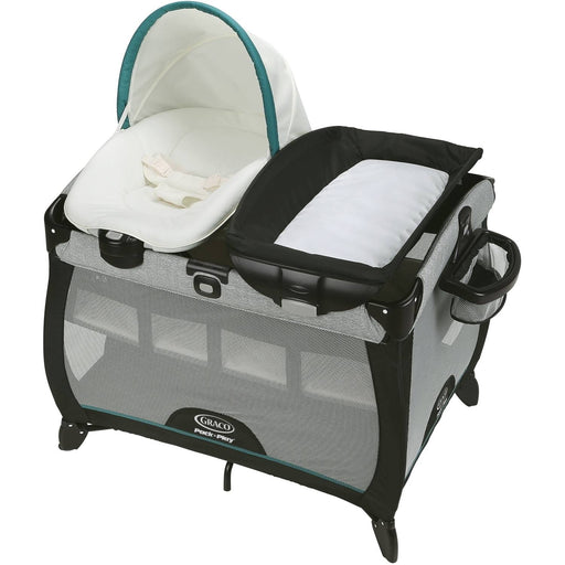 Graco Pack 'n Play Quick Connect Portable Napper Deluxe Playard with Bassinet, Darcie - Preggy Plus