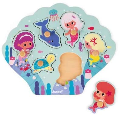 JANOD HAPPY MERMAIDS PUZZLE 6 PIECES (WOOD) - Preggy Plus