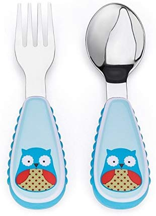 Zootensils Fork & Spoon Set, Owl - Preggy Plus