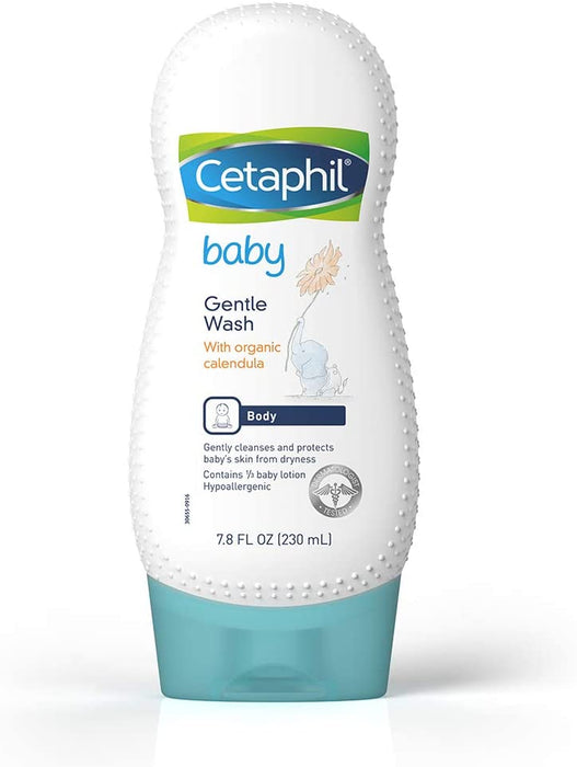 Cetaphil Baby Gentle Wash with Organic Calendula 7.8oz - Preggy Plus