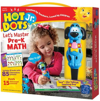 Hot Dots® Jr. Let's Master Pre-K Math Set with Ace—The Talking, Teaching Dog® Pen - Preggy Plus