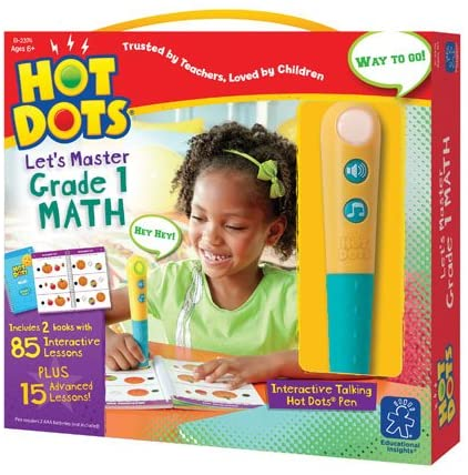 Hot Dots® Jr. Let's Master Grade 1 Math Set with Hot Dots® Pen - Preggy Plus