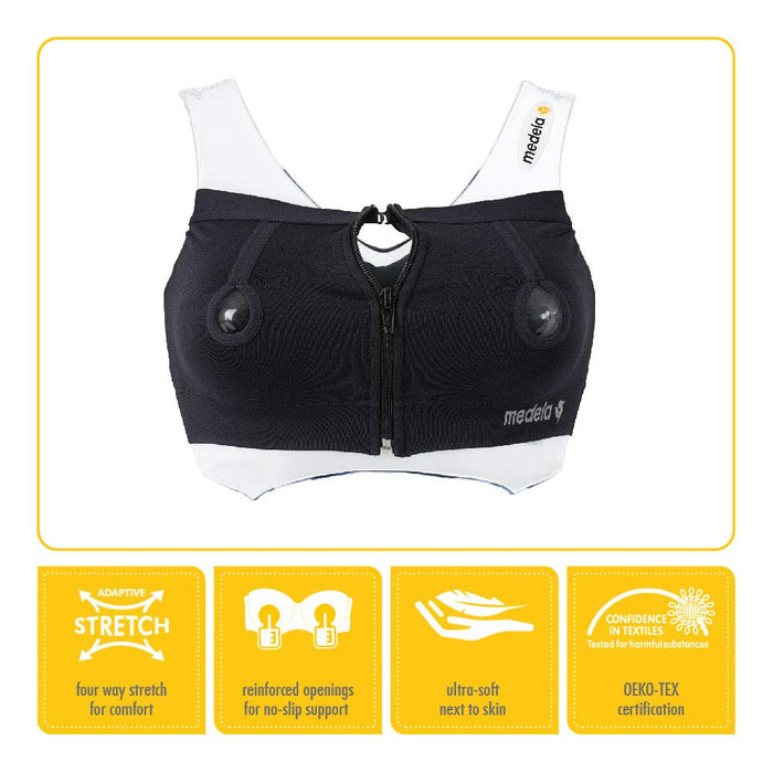 Medela Easy Expression® Bustier - Black, Small - Preggy Plus