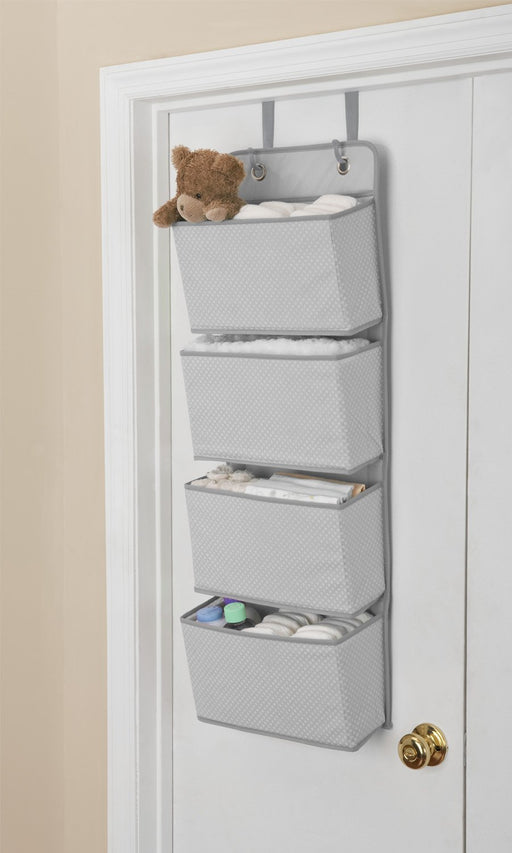 Delta 4-Pocket Hanging Wall Organizer, Dove Grey - Preggy Plus
