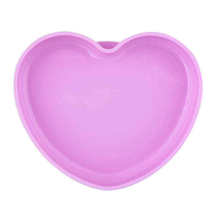 Easy Plate Silicone Heart Shaped Plate - Pink - Preggy Plus