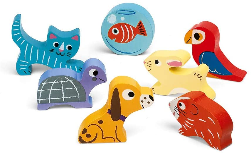 JANOD CHUNKY PUZZLE ANIMO/PETS 7 PIECES (WOOD) - Preggy Plus