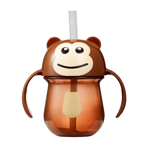 Animal Character Straw Trainer Cup 7 Oz - Monkey - Preggy Plus