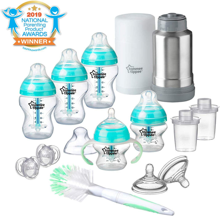Tommee Tippee Advanced Anti Colic Bottle Feeding Gift Set (includes Travel Bottle Warmer) - Preggy Plus