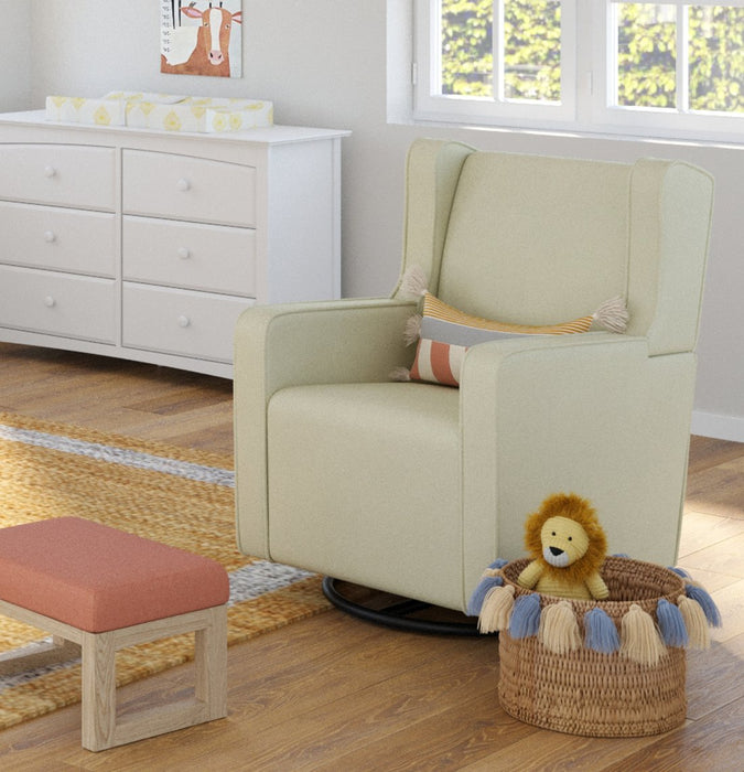 Graco Remi Upholstered Swivel Glider, Oatmeal - Preggy Plus