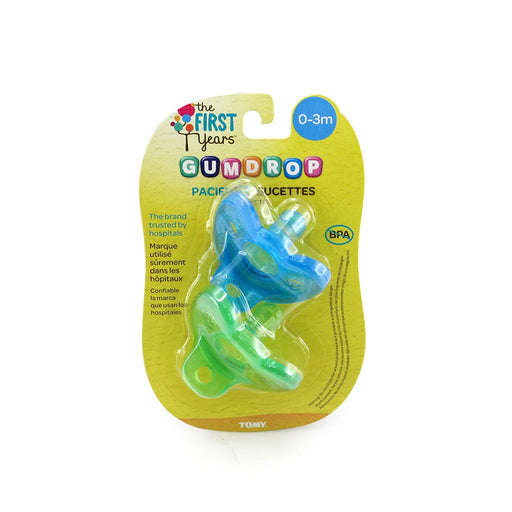 The First Years GumDrop Newborn Pacifier 2pk, Boy - Preggy Plus