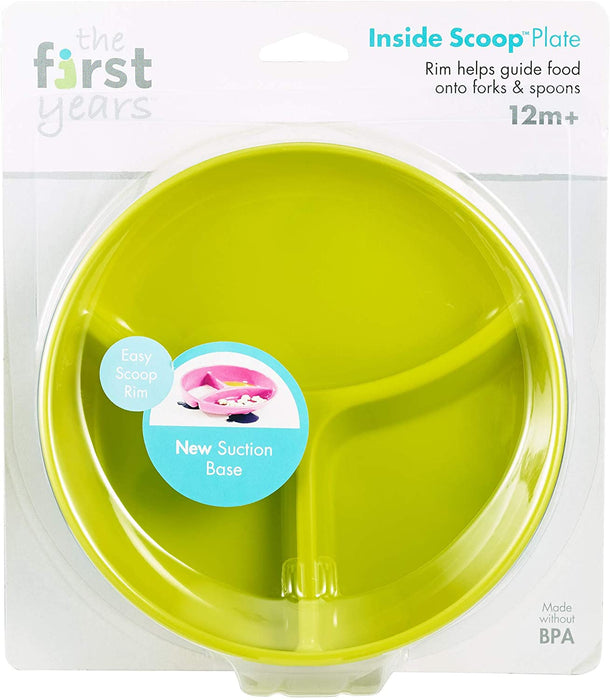 Inside Scoop Section Plate Green - Preggy Plus