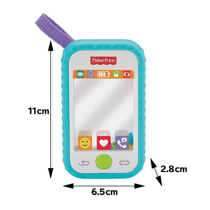 Fisher-Price #Selfie Fun Phone, Baby Rattle, Mirror and Teething Toy - Preggy Plus