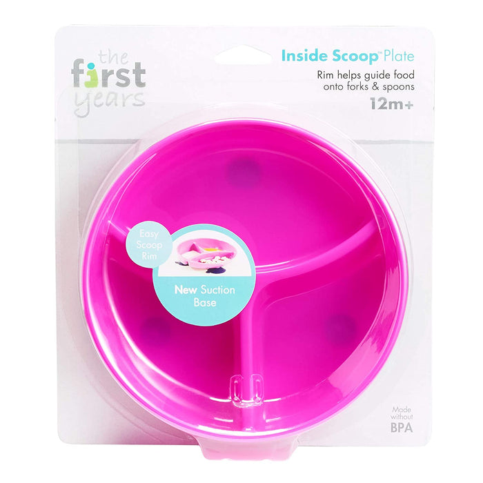 Inside Scoop Section Plate, Pink - Preggy Plus