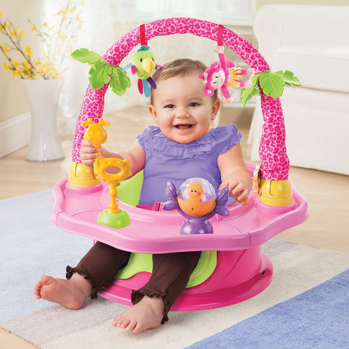 Summer Infant 3-Stage SuperSeat Deluxe Island Giggles Booster- Pink - Preggy Plus
