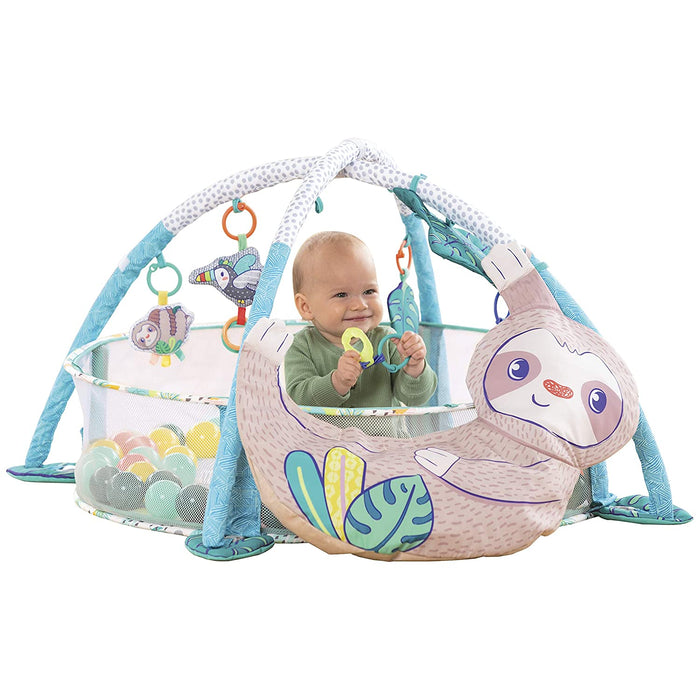 Infantino Wee Wild Ones 4-in-1 Jumbo Baby Activity Gym & Ball Pit - Sloth - Preggy Plus