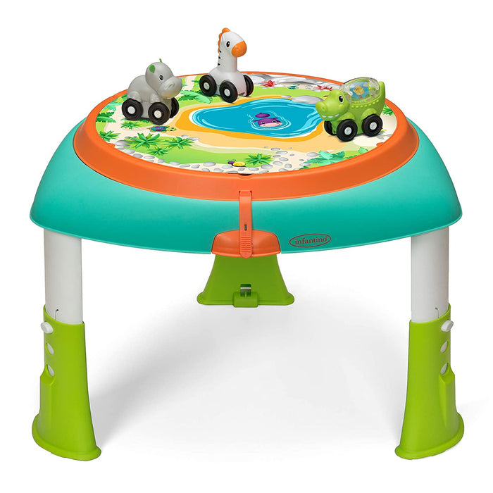 Infantino 2-in-1 Sit, Spin & Stand Entertainer 360 Seat & Baby Activity Table - Preggy Plus
