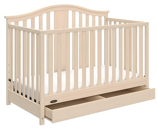 Graco Solano 4 in 1 Convertible Crib with Drawer Whitewash - Preggy Plus