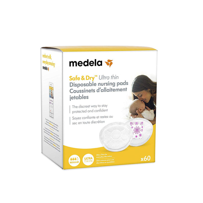 Medela Safe & Dry™ Ultra Thin Disposable Nursing Pads - 60ct - Preggy Plus