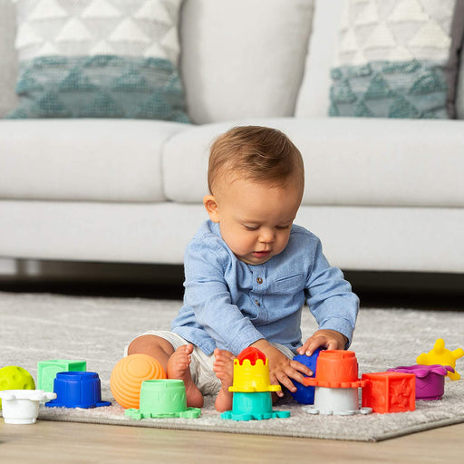 Infantino Balls, Blocks & Cups Activity Toy Set - Preggy Plus