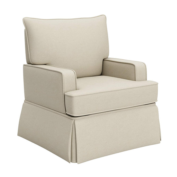 Storkcraft Davenport Upholstered Swivel Glider, Sahara - Preggy Plus