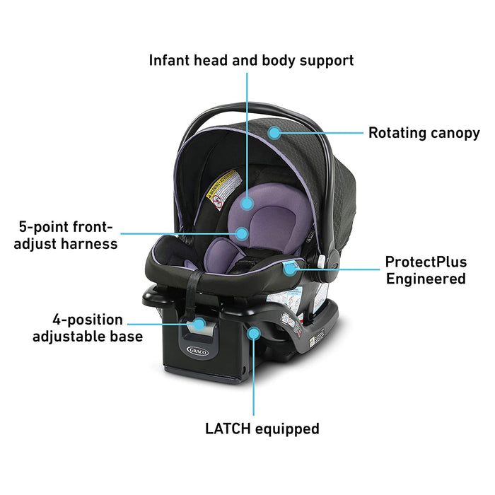 Graco SnugRide 35 Lite LX Infant Car Seat, Hailey - Preggy Plus
