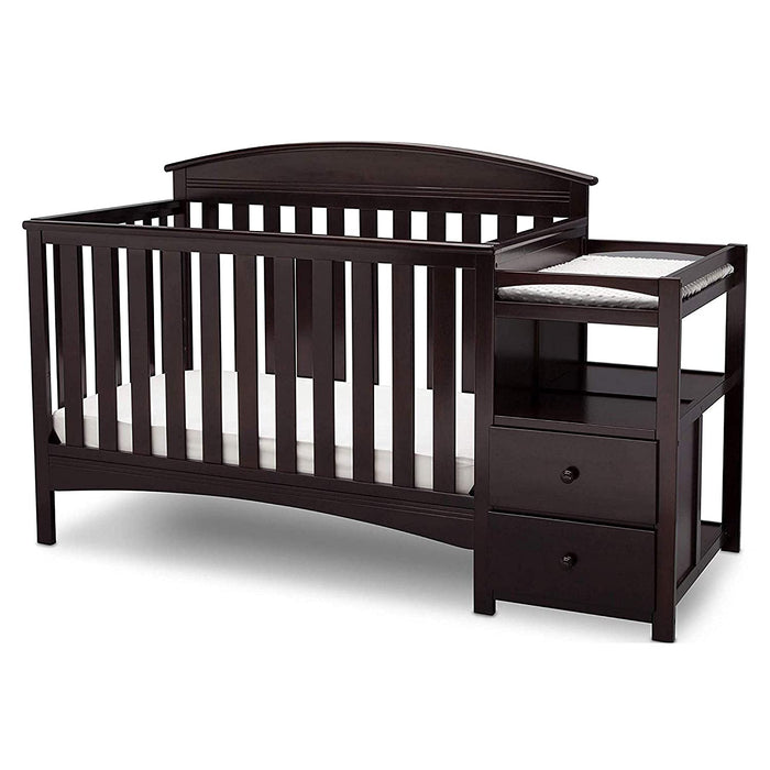 Delta Children Abby Convertible Crib and Changer, Dark Chocolate (530160-207) - Preggy Plus