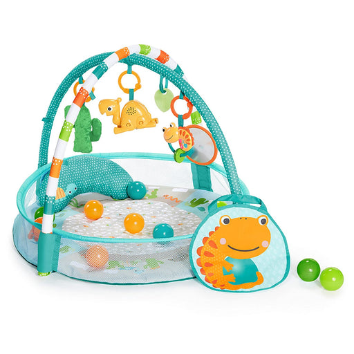 Bright Starts 4-in-1 Rounds of Fun Activity Gym & Ball Pit, Newborn +, Blue - Preggy Plus
