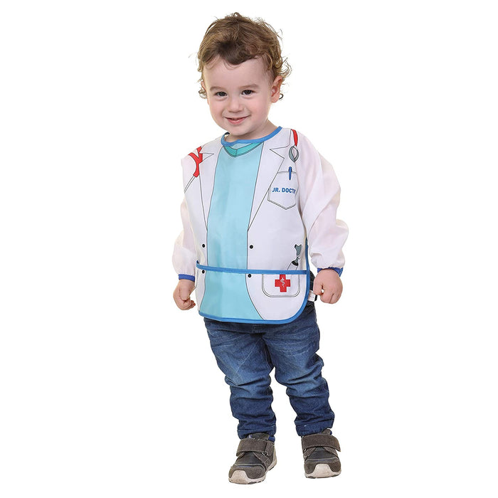 Dreambaby Food & Fun Character Bib Smocks with Sleeves 2 Pack (Astronaut & Doctor) - Preggy Plus