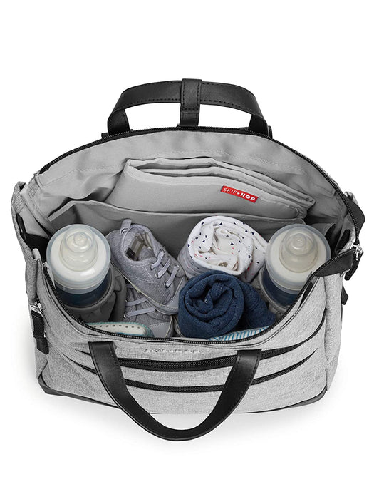 Skip Hop Trio Convertible Diaper Backpack, Grey Heather - Preggy Plus