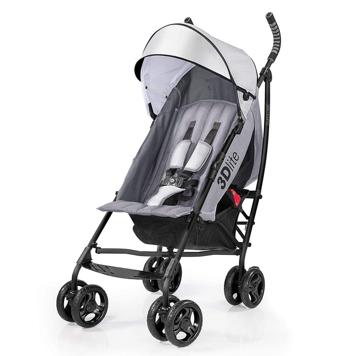Summer Infant 3D Lite Convenience Stroller - Gray - Preggy Plus