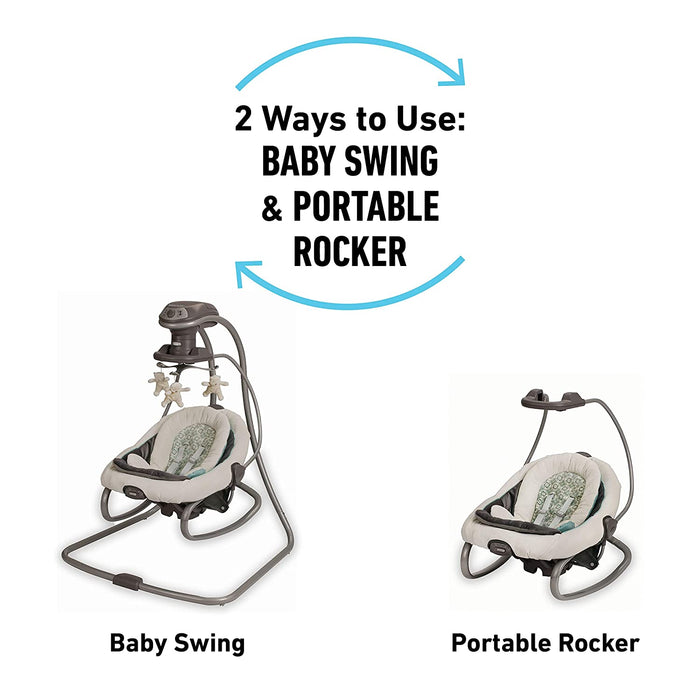 Graco DuetSoothe® Swing and Rocker, Winslet - Preggy Plus