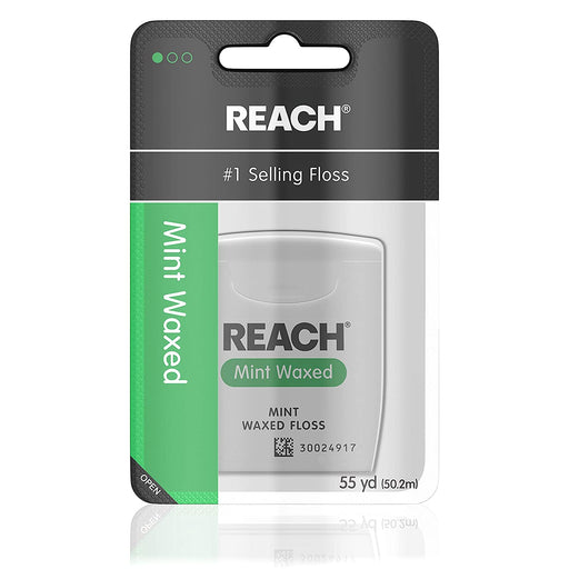 Reach Waxed Dental Floss, Mint - Preggy Plus