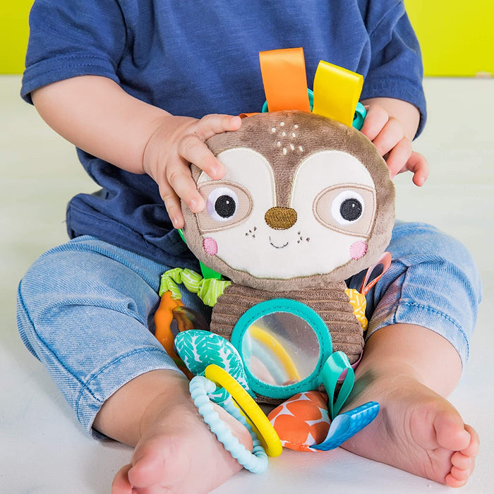 Bright Starts Playful Pals Take-Along Activity Toy, Sloth, Newborn + - Preggy Plus