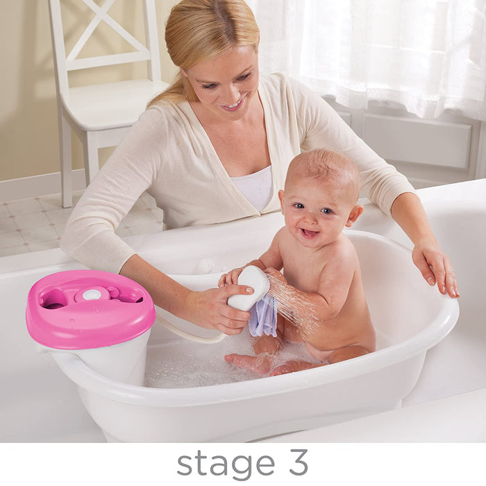 Summer Infant Newborn-to-Toddler Bath Center & Shower  - Pink - Preggy Plus