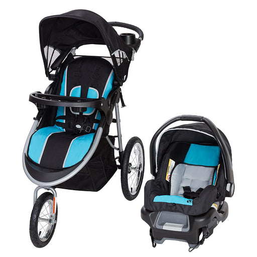 Baby Trend Pathway 35 Jogger Travel System, Optic Aqua - Preggy Plus