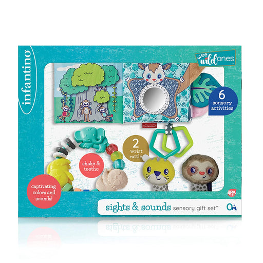 Infantino Wee Wild Ones Sights & Sounds Sensory Gift Set - Preggy Plus