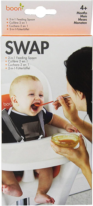BOON SWAP 2-IN-1 FEEDING SPOON - Teal/Yellow - Preggy Plus