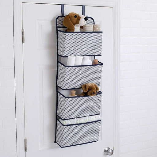 Delta 4-Pocket Hanging Wall Organizer, Navy - Preggy Plus